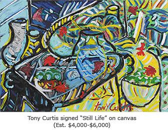 Tony Curtis Signed Still Life