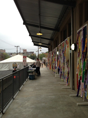 One of the walkways, with Ribbons of Hope Exhibit