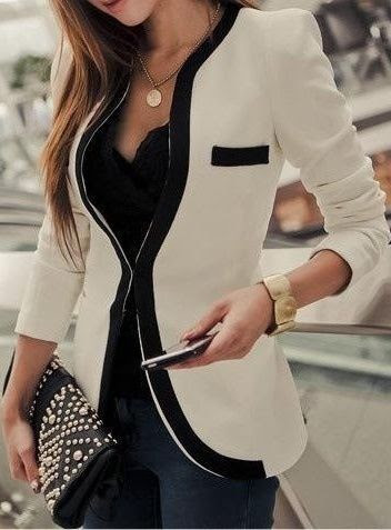 Collarless blazer - Fashion Jot- Latest Trends of Fashion.....I love this blazer though
