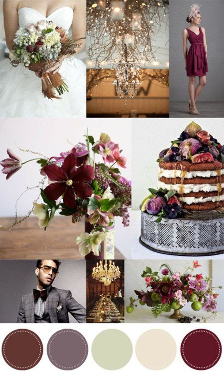 Fig Wedding:   Color Inspiration: Pomegranate and Fig