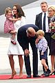 kate middleton prince william arrive in poland with george charlotte 01