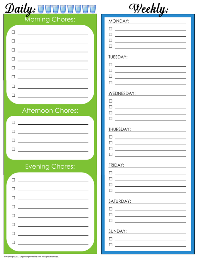 31 Days of Home Management Binder Printables: Day #4 Daily and ...