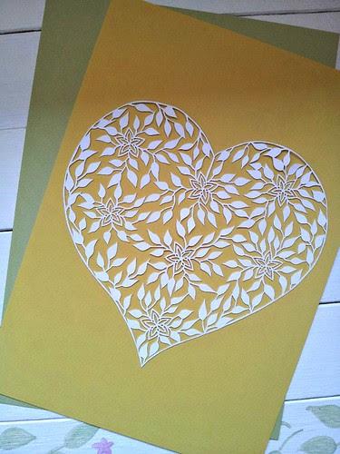 heart paper cutting