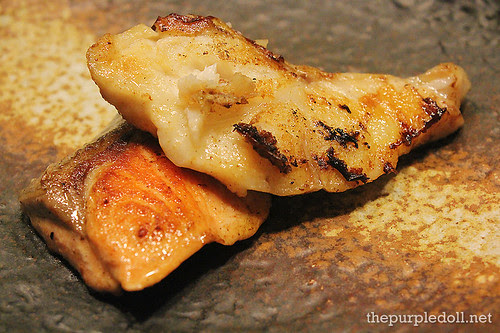 Black Cod and Salmon Teppanyaki