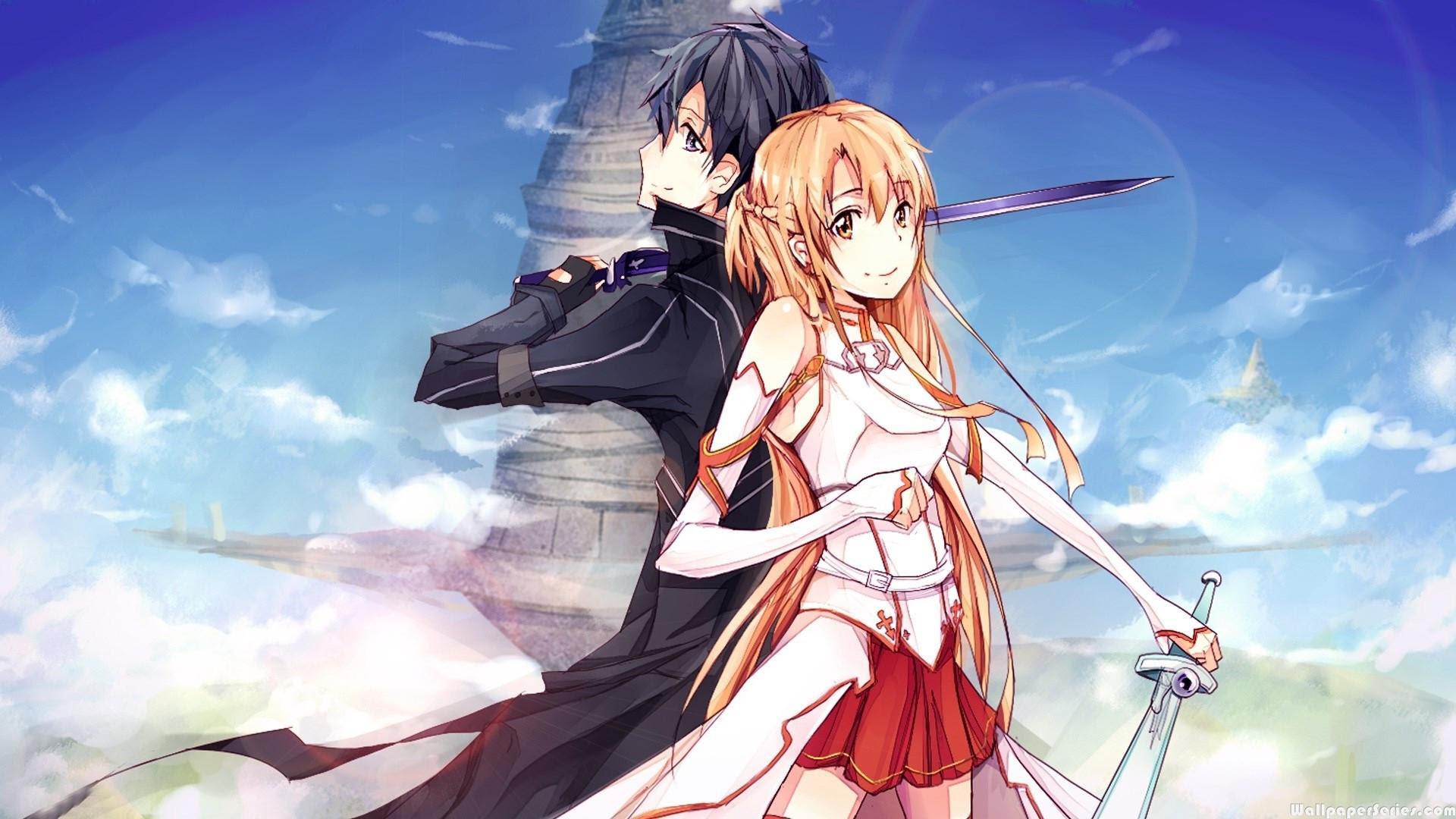 Hd Asuna And Kirito Sword Art Online Wallpaper Download Free