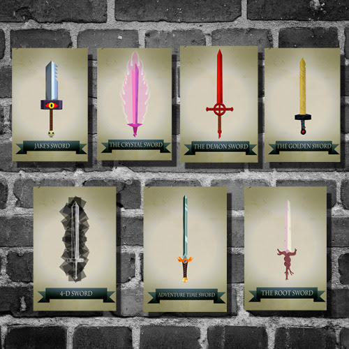 Adventure Time Swords Prints available here Harshness