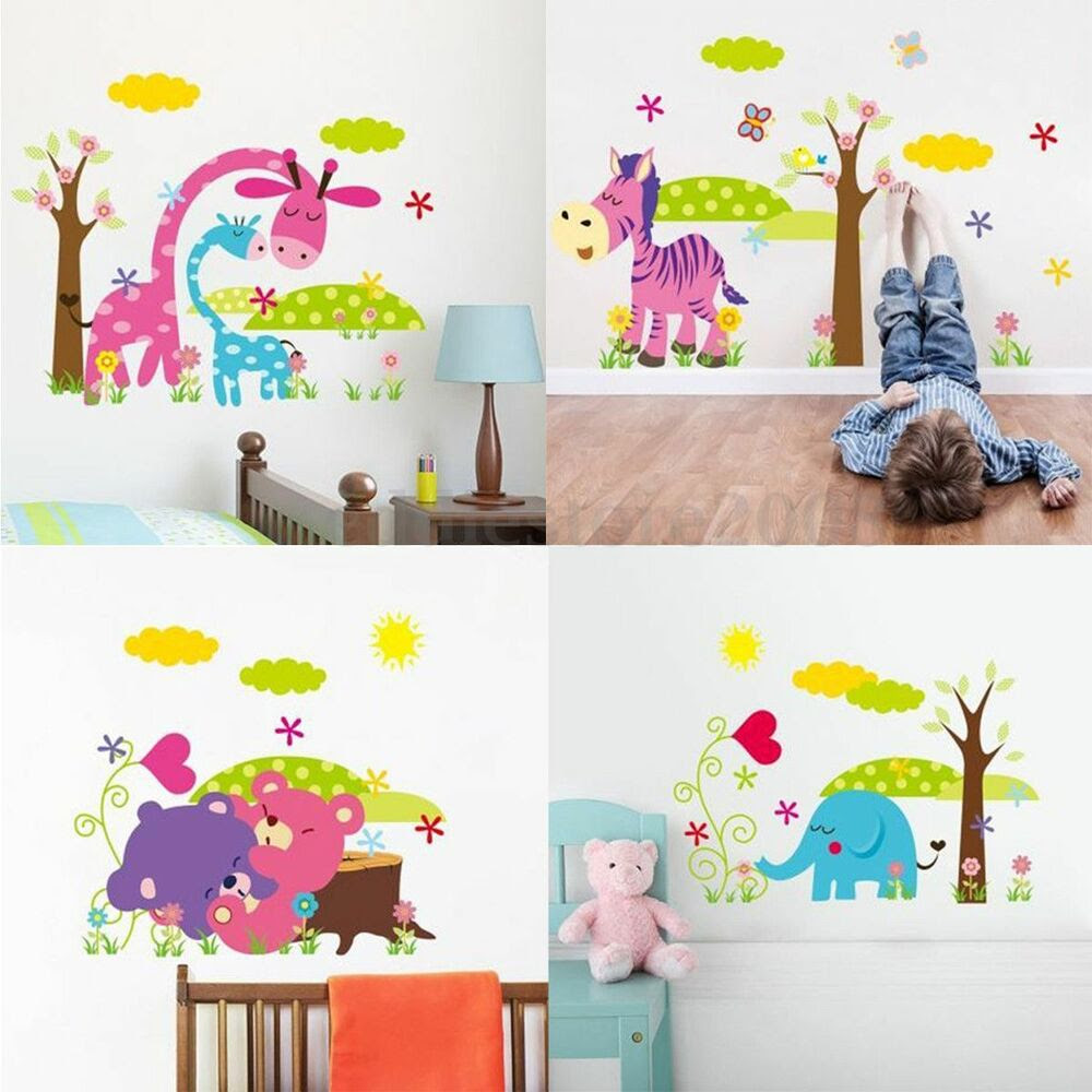 DIY Jungle Animal Removable Wall Sticker Decal Kid Baby Room Nursery Home Decor  eBay