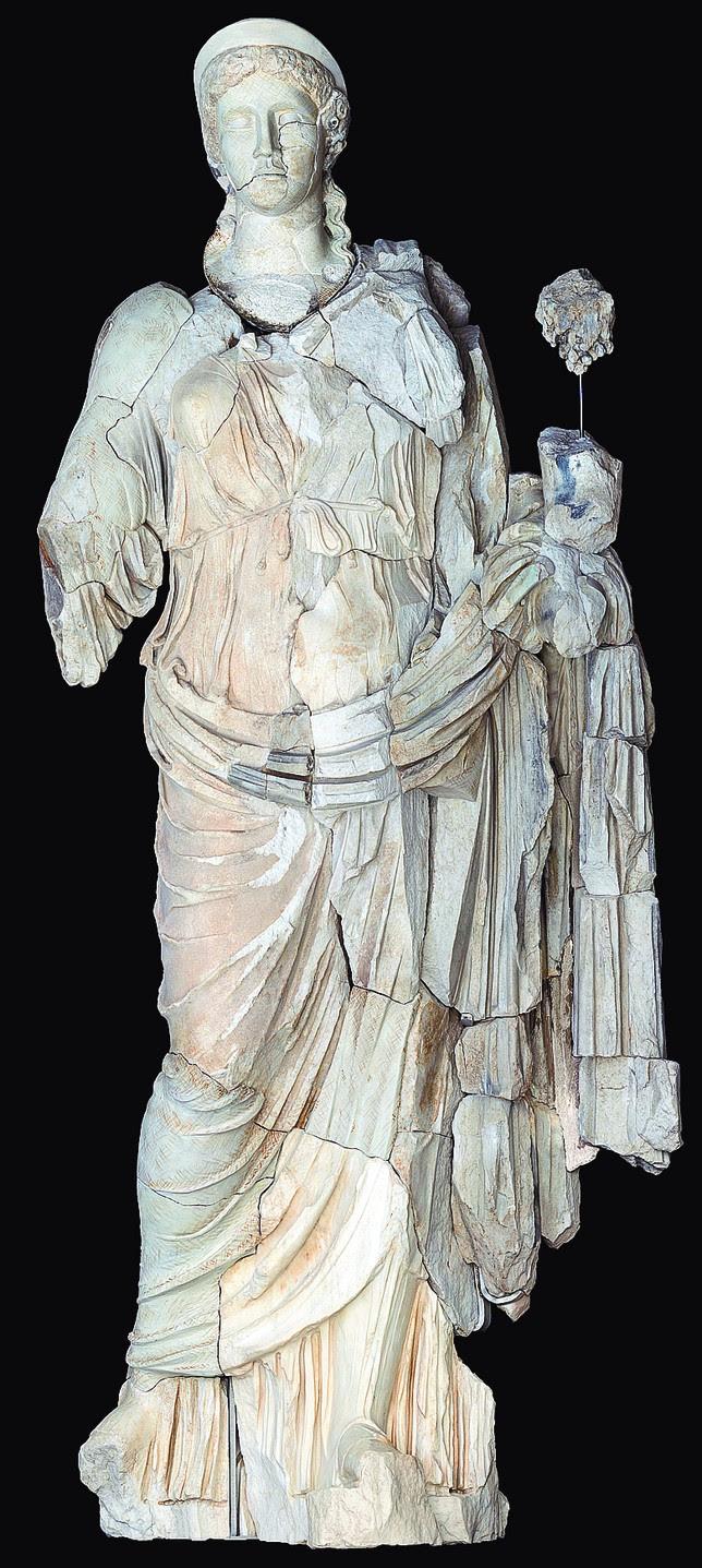 Resultado de la reconstrucción y restauración de la diosa Fortuna. ccrbc