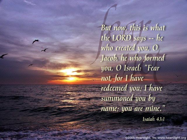 Inspirational illustration of Isaiah 43:1