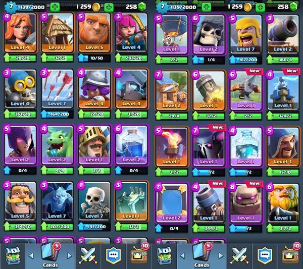 Clash Royale All Cards Name Clash Royal Mod