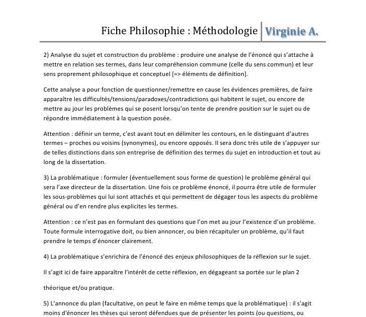 Exemple D Introduction De Dissertation Philosophique ...