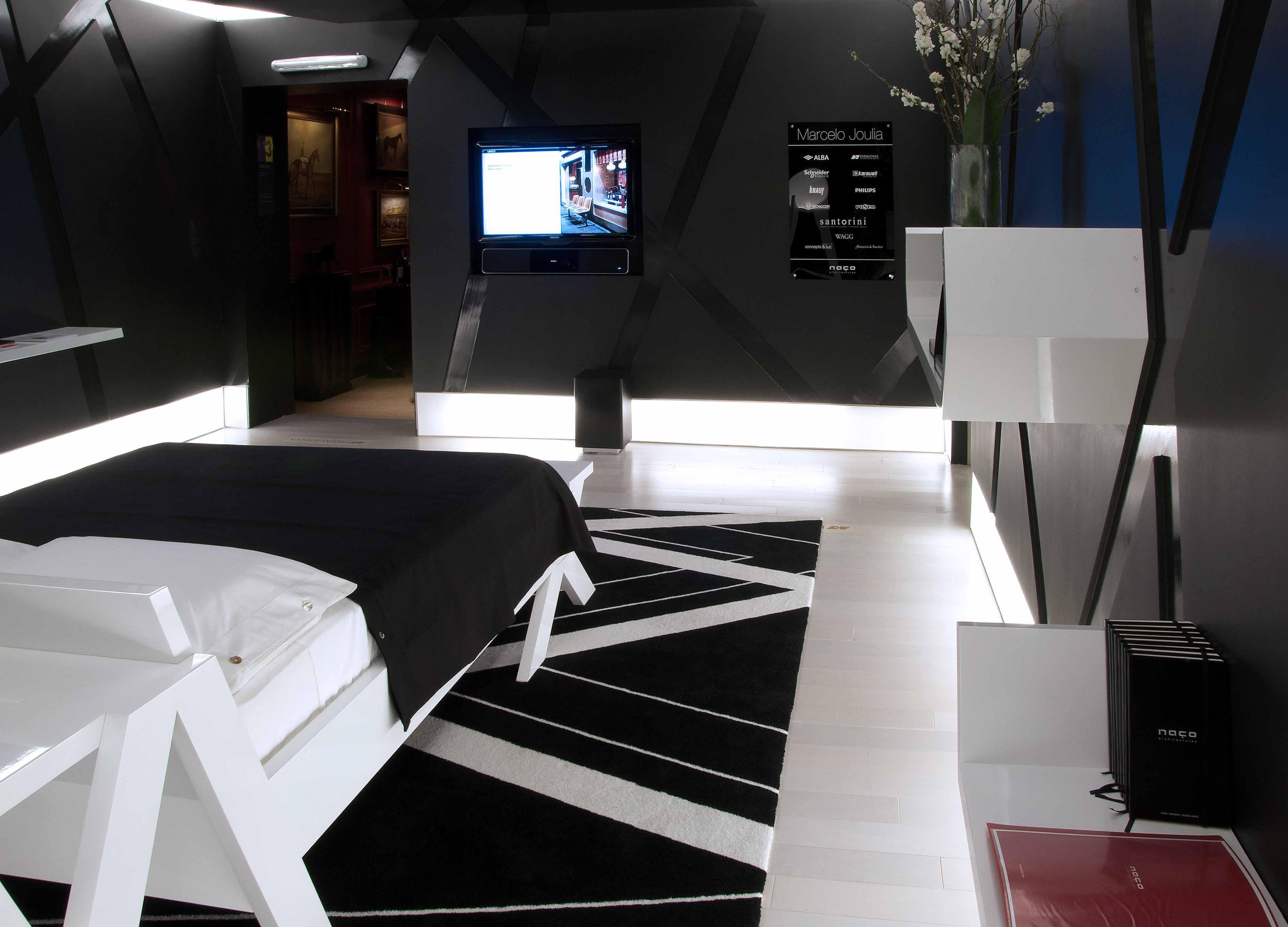 casa foa 2009: espacio n° 13 - dormitorio black & white por