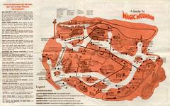 1978 Magic Mountain map