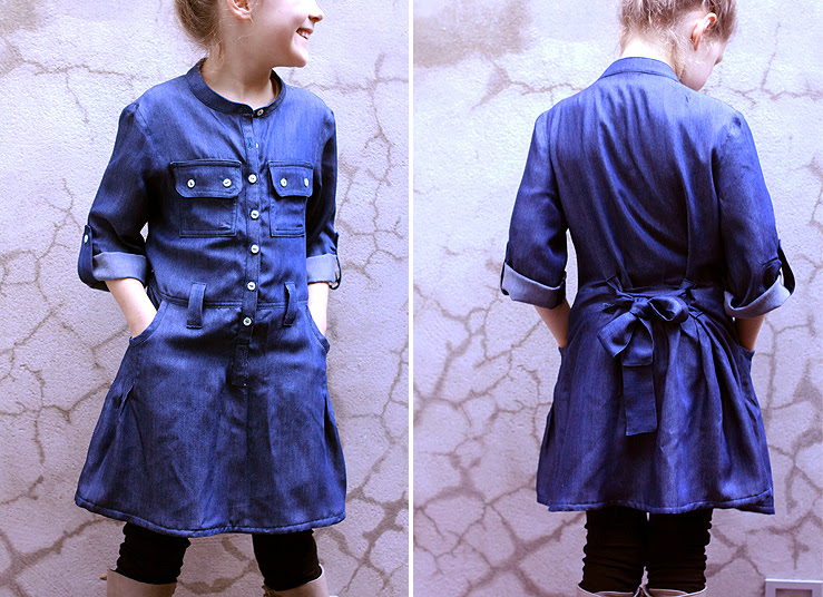 Blue Shirtdress #1