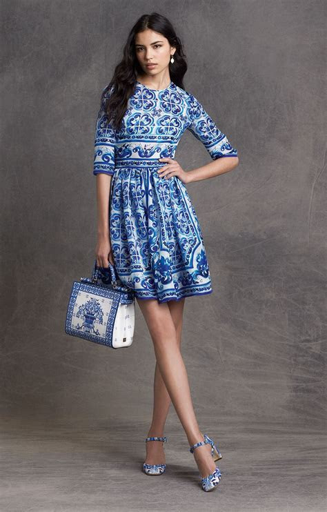 Discovered this blue and white mosaic D&G dress, inspired