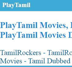 playtamil 2020- Download Bollywood, South, Hollywood movies in Hindi