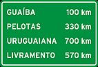 Placa de Orientacao de Destino - Placa indicativa de distancia 05