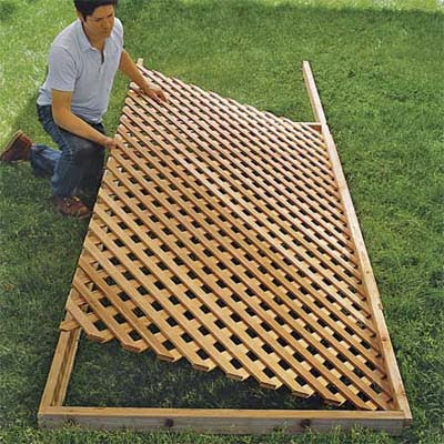 Set the Lattice in Place | How to Build a Trellis | This Old House
