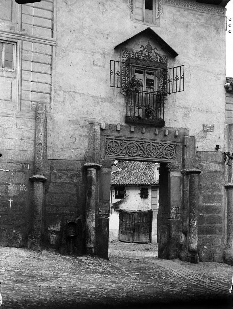 Corral de Don Diego en los años 20. Detalle de una Fotografía de Otto Wünderlich. © Fototeca del Patrimonio Histórico