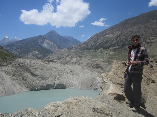 Thijs at Gangapurna Lake