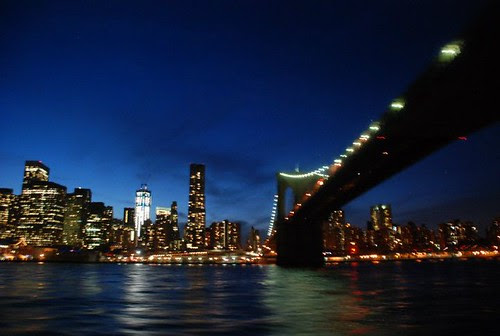 Brooklyn bridge by night