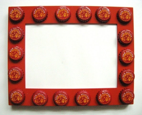 Bicycle Beer Bottle Cap Picture Frame