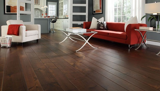 Dark Wood Floor Living Room In Exhilarating Styles And Designs