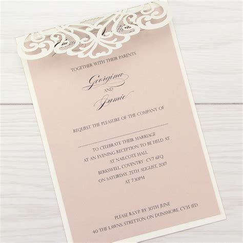 Josephine Evening Invitation   Pure Invitation Wedding Invites