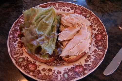Turkey, lettuce.