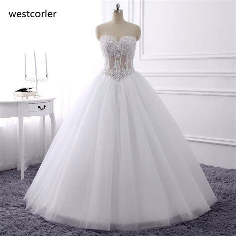 Aliexpress.com : Buy Luxurious Bling Strapless Wedding
