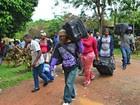 No AC, transporte de imigrantes é suspenso (Aline Nascimento/G1)