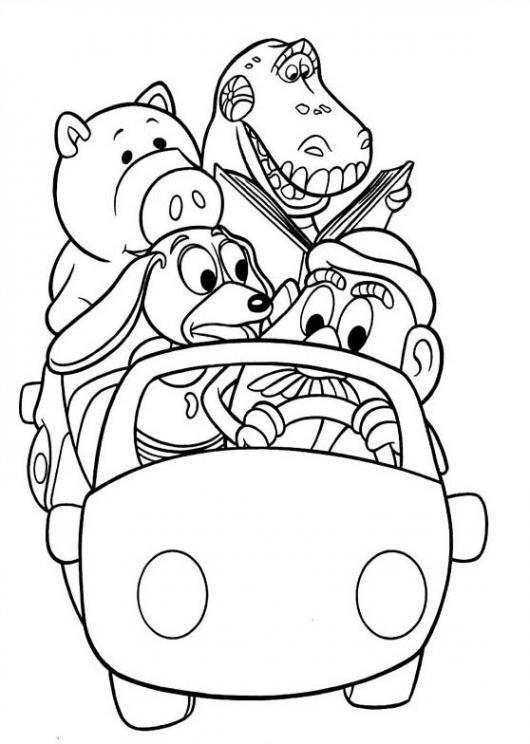 Carrito De Toy Story Para Pintar Y Colorear Colorear Dibujos De