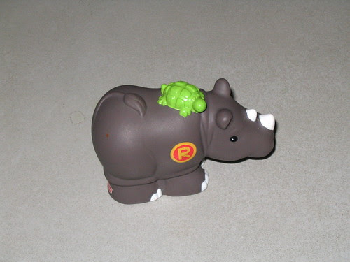 Rhino with turtle?
