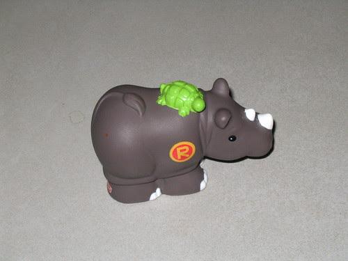 Rhino with turtle?