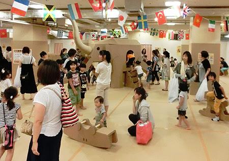 松菱 ダンボールの遊園地,ダンボールの遊園地 津松菱,松菱百貨店 ダンボールの遊園地,ダンボールを使った工作教室