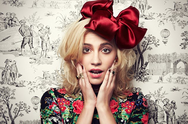 Bow-tiful: Pixie Lott has designed as jewellery collection for Rock 'N Rose