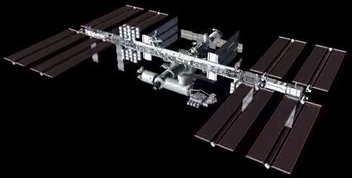 How the ISS will hopefully look when it's completed in 2010.