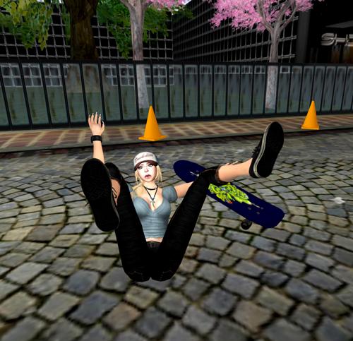 Mannequin. Skateboard