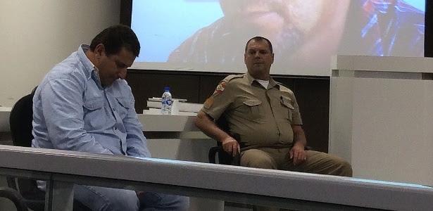 Pedreiro Luiz Carlos Flores, o Liquinha, 40, durante julgamento