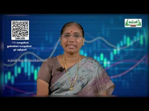 11th Economics நுண்ணினப்பொருளியியல் ஓர் அறிமுகம் அத்தியாயம் 1 பகுதி 1 Kalvi TV