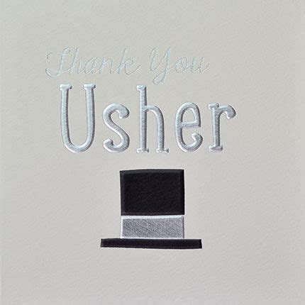 Usher Thank You Card   Karenza Paperie
