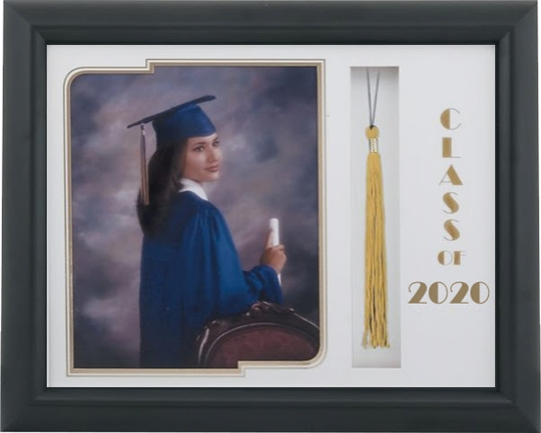 Levin Picture Frames 321 Black Satin Graduate Tassel Frame With A