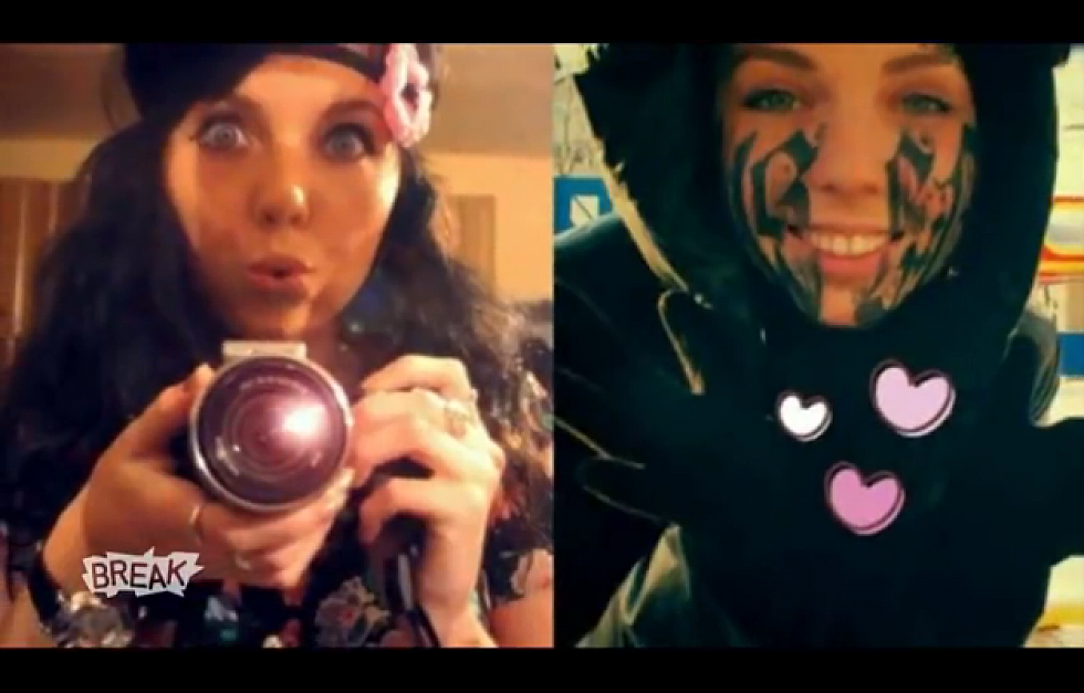 Girl Tattoos Boyfriends Name On Her Face Epic Fail