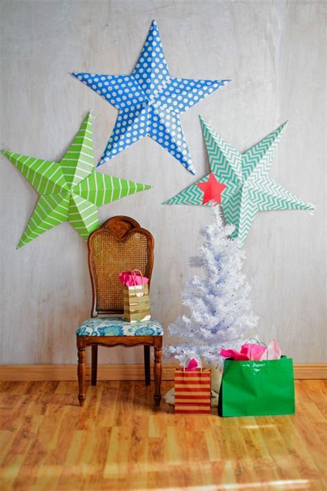 Gigantic wall stars, Foam board & Wrapping Paper   Craft