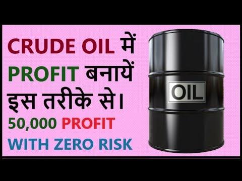 Crude oil trading unique strategy | Crude oil 9.00 pm profit loss report...