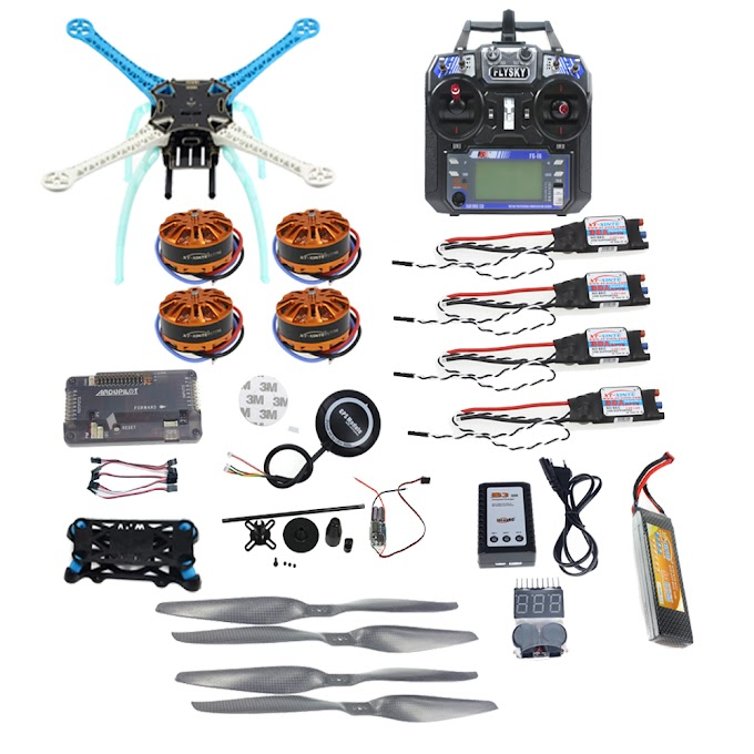Full Kit DIY GPS Drone APM2.8 500mm Multi-Rotor with 700KV Motor 30A ESC 6CH 9CH Transmitter 11.1V 4400MAH Battery F08191-L