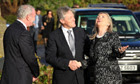 Hillary Clinton meets Northern Ireland first minister Peter Robinson and Martin McGuinness