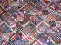 detail of necktie quilt