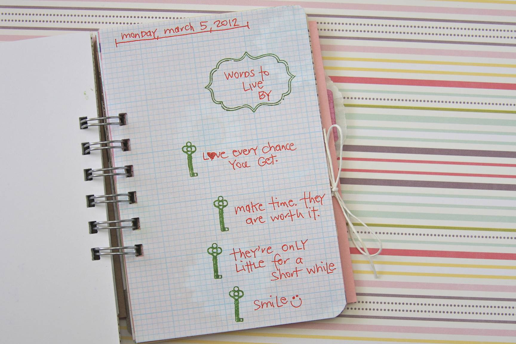 Words to Live By | 30 Days of Lists | March 2012