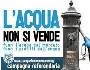 Una dei manifesti della campagna referendaria  contro la privatizzazione delle risorse idriche